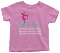 Hashtag Gymnastics Toddler T-Shirt Cute Gymnast Birthday Team Gift