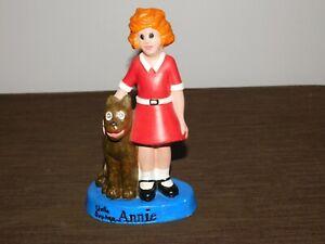 "VINTAGE 8"" HIGH LITTLE ORPHAN  ANNIE & DOG SANDY CERAMIC FIGURE STATUE"