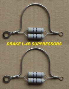 DRAKE L-4B Ni-Chr PARASITIC SUPPRESSORS New PR (2)