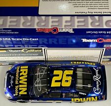 Autographed 2006 TCP Jamie McMurray #26  Ford Fusions Tools Blue Chrome 1:24
