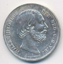 Kingdom of The Netherlands William III Silver 2-1/2 Gulden 1854/2 VF/XF SCARCE