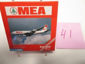 Herpa Wings 1:500 Diecast Plane MEA Boeing 707-323C #511674