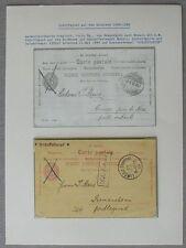 S1634) Schiffspost Bodensee Antwortpostkarte Svizzera dopo Monaco + Retour 1899