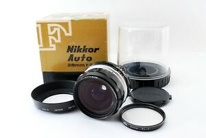 【 N MINT in BOX w/ NH-2 】 Nikon Ai-Converted Nikkor-H Auto 28mm F3.5 Lens 853238