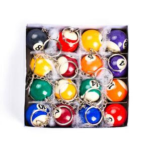 2.5cm Billiard Snooker Keyring Ball  Keychain Key Ring Resin Pool Ball Key Chain