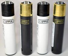 4 Black White Clipper Gas Lighters