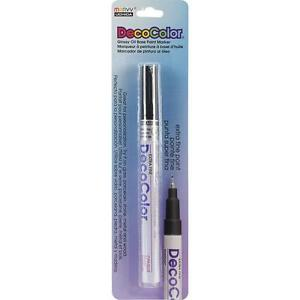 Deco Color Extra Fine Brilliant Opaque Paint Marker 1/Pkg-Black Marvy