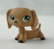 Littlest Pet Shop  toys Lps255 brown monopoly DACHSHUND dog snowflake eyes