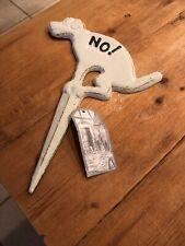 Brand New Esschert Design Usa Hb14 No Pooping Yard Sign, White