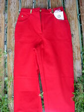 ST. JOHN SPORT ESSENTIALS SIZE 0 CRIMSON RED PANTS BY MARIE GRAY NEW w/TAGS!!