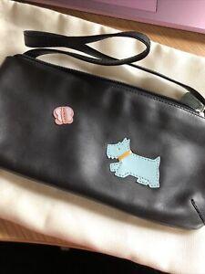 Unused Radley Black Leather Minibag With Dust Bag