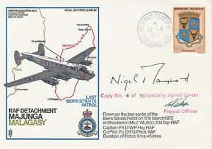 Rare C8c RAF Detachment Majunga Last Patrol in Shackleton Signed Sir Maynard