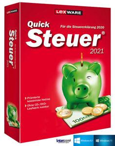 Lexware QuickSteuer 2021 Vollversion (Steuerjahr 2020) + Handbuch Download NEU