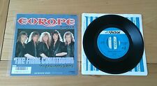 "EUROPE the final countdown 1986 JAPAN 7"" SINGLE insert Classic Hard Rock"