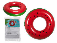 QUALITY FUNKY WATERMELON INFLATABLE SWIM RING POOL FLOAT RAFT LILO