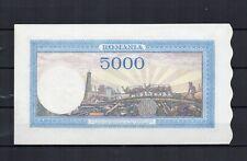 ROUMANIE Billet de 5000 Lei de 1943 quasi NEUF N° K 55
