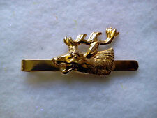 HUNTERS THEME TIE BAR GOLD TONE ELK-MADE IN CZECH