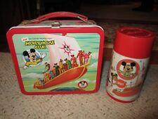 1970's Walt Disney New Mickey Mouse Club Metal Lunch Box W/Thermos!!!!