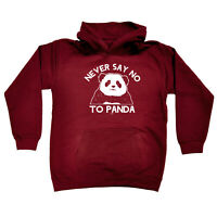 Funny Kids Childrens Hoodie Hoody - Never Say No To Panda