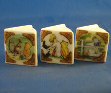 Birchcroft Thimbles -- Miniature Book Style  -- 3 Winnie the Pooh ( Make Offer )