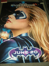 ALICIA SILVERSTONE - BATGIRL - ORIGINAL DOUBLE SIDED BUS SHELTER POSTER