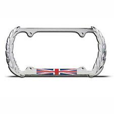 UNION JACK GREAT BRITAIN FLAG Chrome Heavy Duty Metal KING License Plate Frame