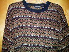 NWT NEW mens size L tan navy blue khaki red CLAIBORNE wool blend sweater