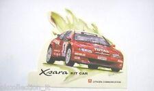 VECCHIO ADESIVO / Old sticker RALLY CITROEN XSARA KIT CAR (cm 14 x 11)