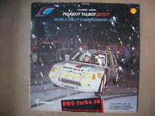 PEUGEOT 205 TURBO 16 ALBUM DISQUE MAXI 45 BEATLES ABBEY ROAD WRC1985