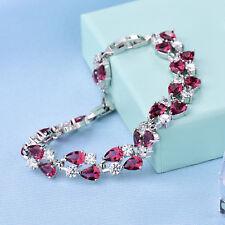 Beautiful White Gold Filled Crystal Bracelet