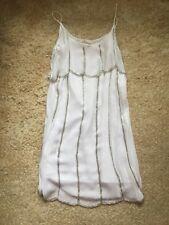 Women's Size 6-8 Gatsby White Sequinned Flapper Dress