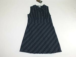 Silk Assets Women's Sleeveless A-Line Dress Size 1X NWT Black White 100% Cotton