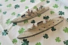 Vintage (2) Tootsie War Ships