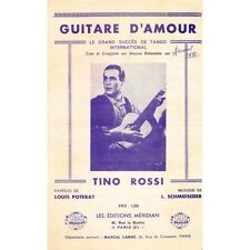 GUITARE D'AMOUR tango TINO ROSSI paroles POTERAT musique SCHMIDSEDER columbia