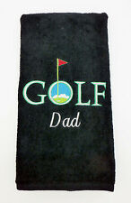 Personalized Embroidered GOLF Logo Bowling Hand Golf Towel Monogrammed