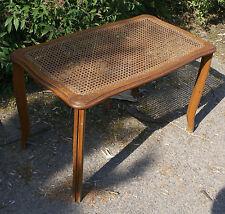 Ancienne TABLE de SALON en Chêne et Cannage