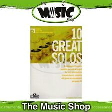 New 10 Great Solos for Early Intermediate Trumpet Music Book & CD