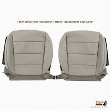 2007 2008 Acura TL Type S Front DRIVER-PASSENGER Bottom Leather Seat Cover Gray