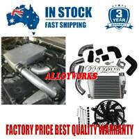 "Top Mount Intercooler Kit For Nissan Patrol GU 4.2 TDi TD42 4.2L 03-2007+9"" Fan"