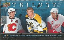 2009-10 Upper Deck Trilogy Hockey Factory Sealed Hobby Box - 9 Hits Per Box