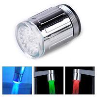 Kueche Bad 3 Farbe  LED Licht Wasserhahn Armatur Aufsatz Badezimmer Küche Dekor