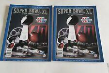 Lot of 2 SUPER BOWL XL 40TH GAME PROGRAM STEELERS vs SEAHAWKS DETROIT 2006 NFL