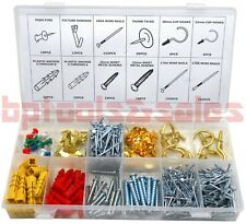 600pc PICTURE HANG HARDWARE ASSORTMENT KIT HANGER FRAME PICTURE MIRROR PHOTO