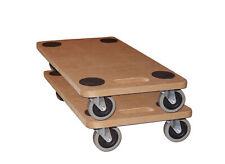 2er Set Rollbrett Möbelroller Möbelhund Transportroller Wagen bis 250kg 59x29cm