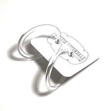 Clear Lucite Hoops | Large Transparent Crystal Lucite Skinny Tube Hoop Earrings