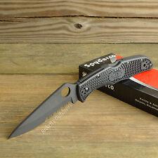 Spyderco Endura 4 VG-10 Black Blade Combo Edge Framelock Knife C10PSBBK
