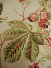 64cm SANDERSON Horse Chestnut vintage shabby chic upholstery fabric remnant