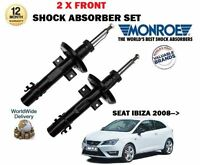 MONROE FRONT AXLE LEFT and RIGHT SHOCK ABSORBERS for SEAT IBIZA 2008->on