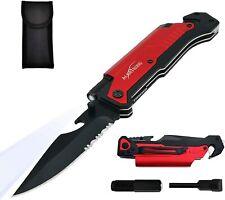 New listing Albatross Fk001 Edc 6-in-1 Multifunction Survival Tactical Folding Pocket Knife