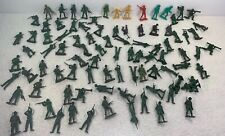MPC 91 figures lot WW2 Army Toy Soldiers 45mm to 50mm Various colors all marked